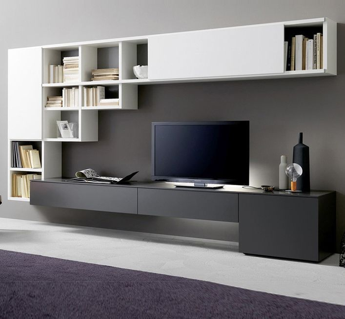 Image Result For Tv Wall Unit With Computer Desk Modern Tv Units Living Room Tv Living Room Tv Wall