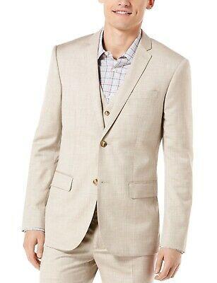 (Sponsored)eBay - Perry Ellis Mens Blazer Beige Size 40 Two Button Regular Fit Textured $185 #009