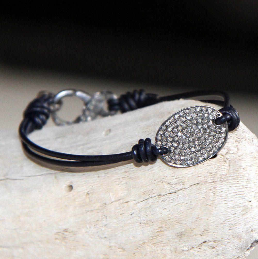 Gorgeous pave diamond centerpiece and diamond clad clasp bracelet