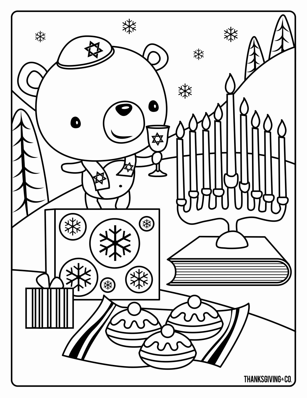 Chanukah Coloring Pages Beautiful Hannukah Coloring 1