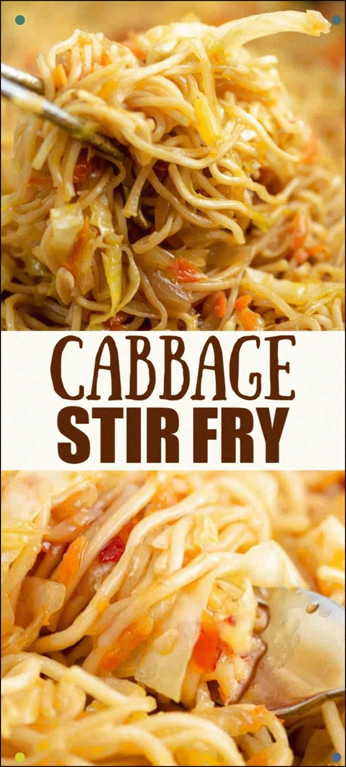 Cabbage Stir Fry With Carrots And Ramen Noodles Top With Sweet Chili Sauce For The Perfect Taste #Cabbage #Stirfry #Dinner #Dinnerideas #Stirfryrecipes #Cabbagerecipes #Vegetarian #Ramennoodles