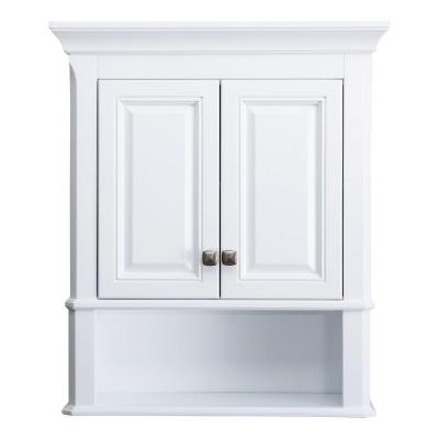 Home Decorators Collection Moorpark 24 In W X 7 3 4 In D X 28 In H Wall Cabine White Bathroom Storage Cabinet White Bathroom Storage White Bathroom Cabinets