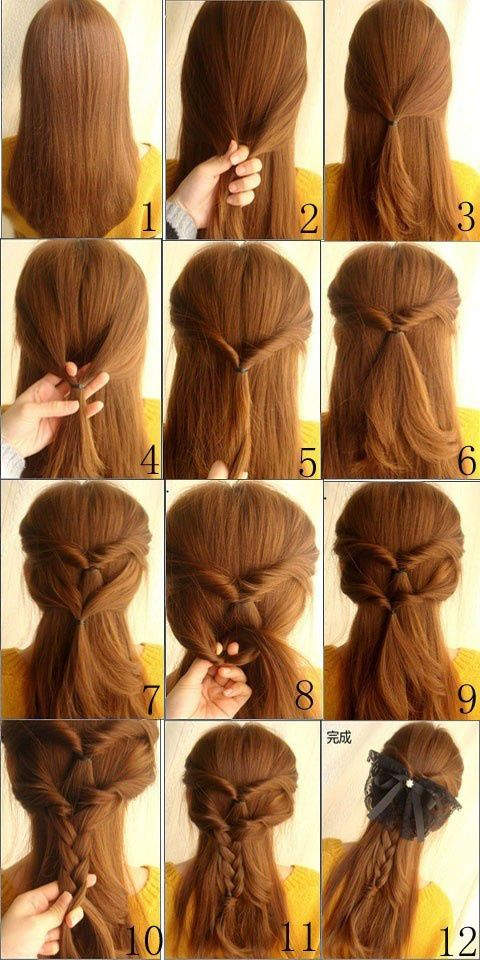 Easy braided hairstyles to do yourself hair pinterest easy diy hair beautiful braid hairstyle maybe a different kind of bow solutioingenieria Choice Image