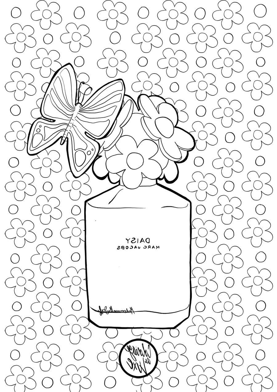 Coloriage Daisy Marc Jacobs