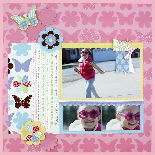 Look at Me Go Fabulous All Girl Additions #Scrapbooking Layout from Creative Memories    http://www.creativememories.com