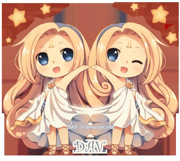 Anime Characters Gemini : Chibi gemini by dav on deviantart chibis pinterest