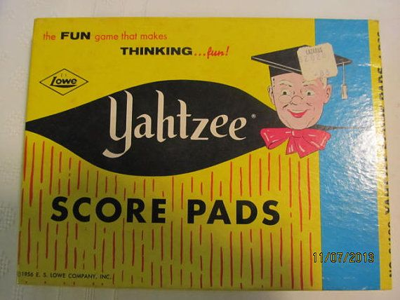 Vintage 1956 Yahtzee Game Score Pads 4 by EvenTheKitchenSinkOH, $9.50