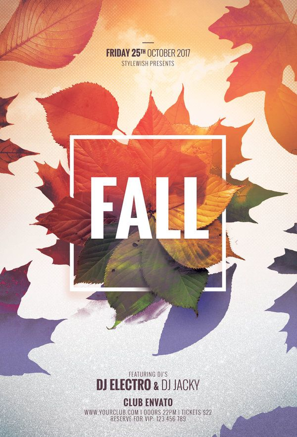 Fall Flyer  Psd Flyer Templates Flyer Template And Flyer Design