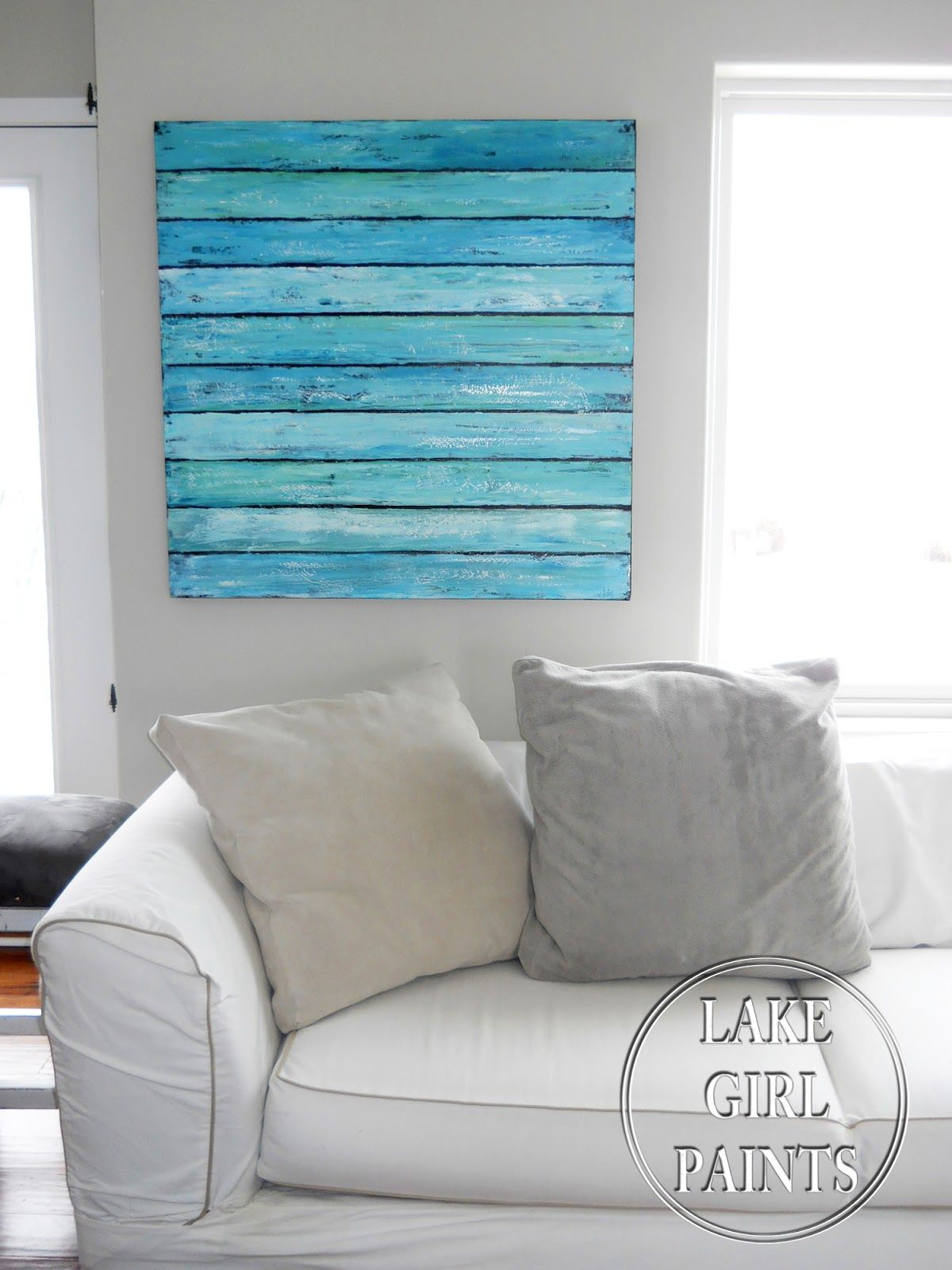 lake girl paints abstract beach art diy canvas art and pictures pinterest schafsk se und. Black Bedroom Furniture Sets. Home Design Ideas