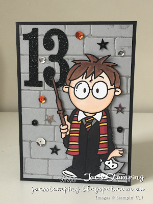 Jacs Stamping Magical Harry Potter Birthday card Stampin Up
