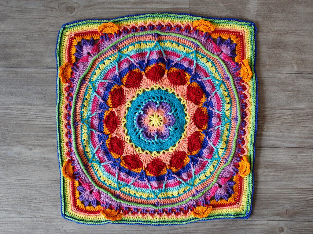 Crochet Along 2017 Mandala Decke Hakeln Gratis Hakelanleitung