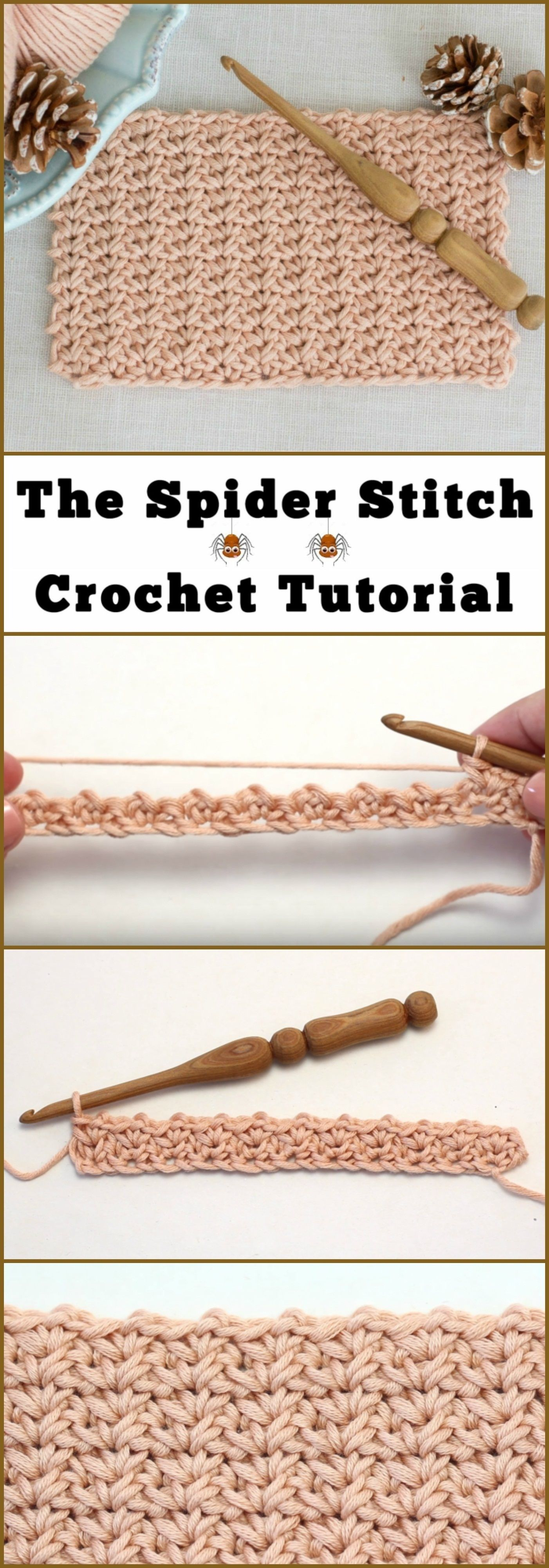 The Spider Stitch Crochet Tutorial | Ganchillo | Pinterest ...