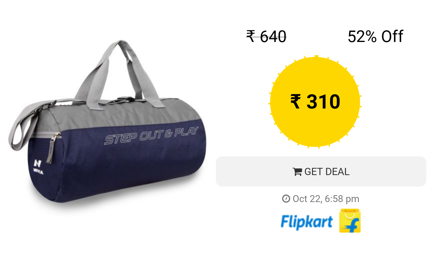 Nivia Beast -3 Gym Bag Duffel(Multicolor 44471f30547e1
