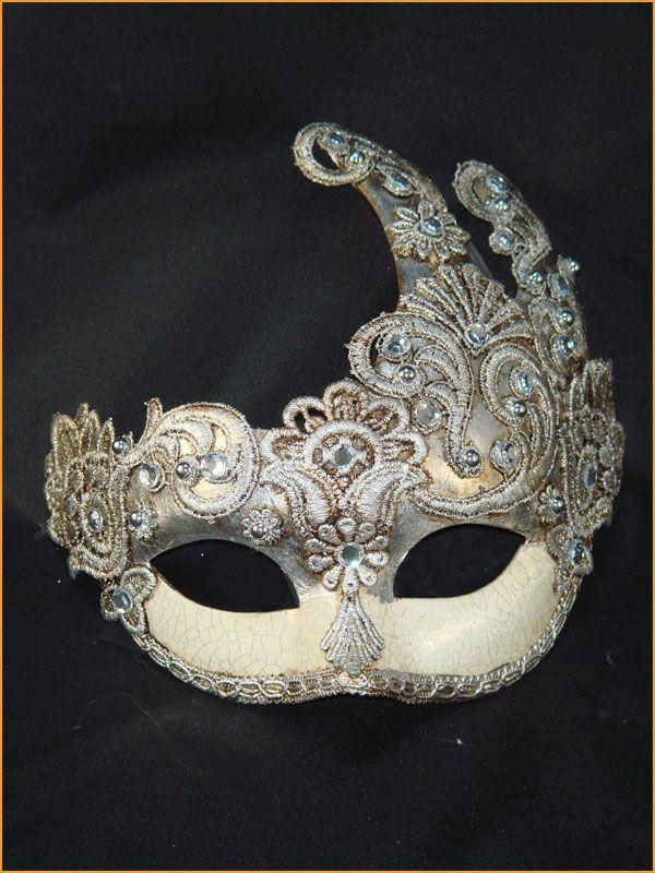 Antique Black /& Gold Incognito Traditional Venetian Carnival Mask