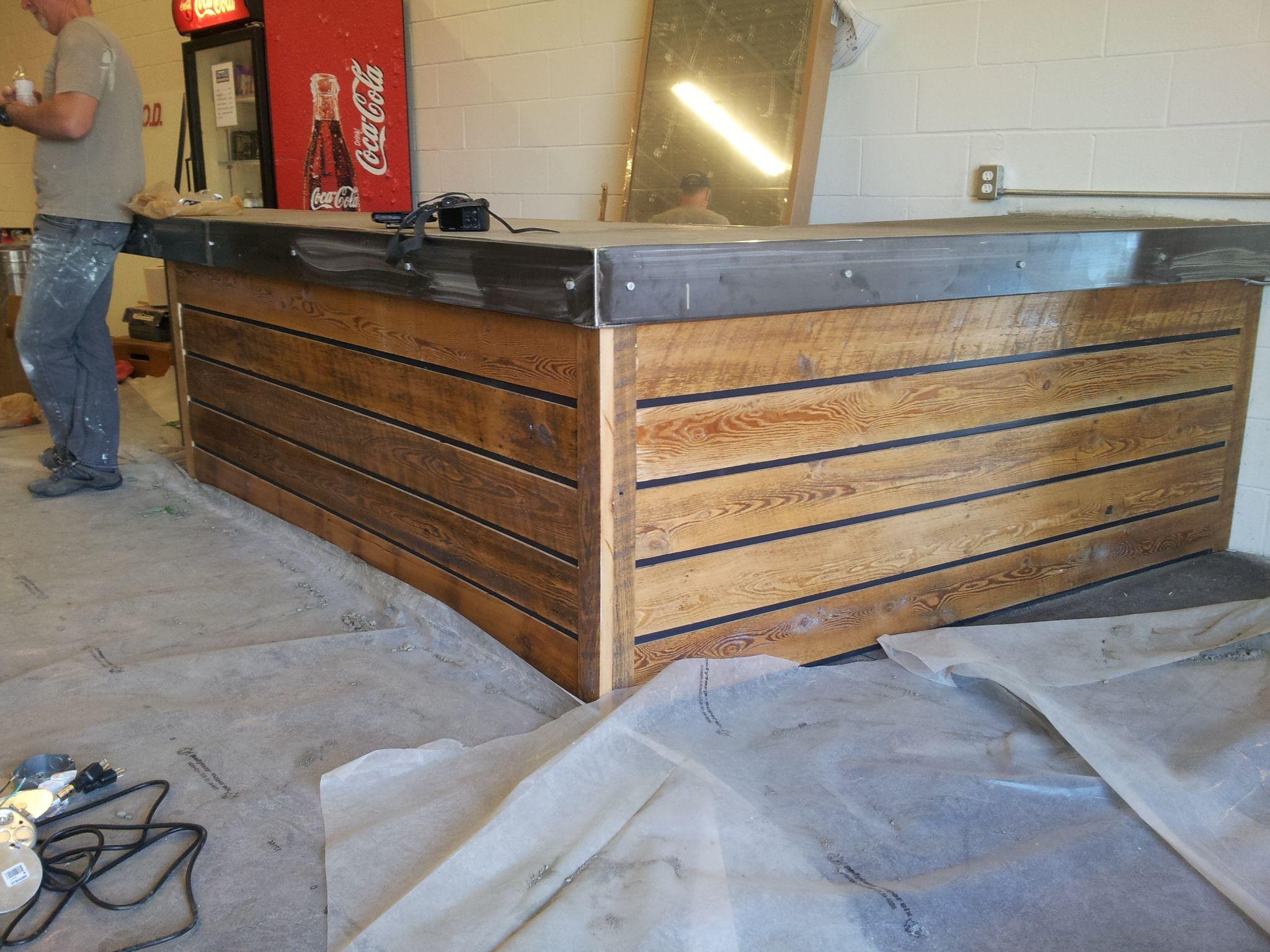 amazing wood pallet reception desk receptions industrial and industrial reception desk google search