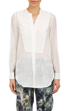 Tissue-Weight Voile Shirt
