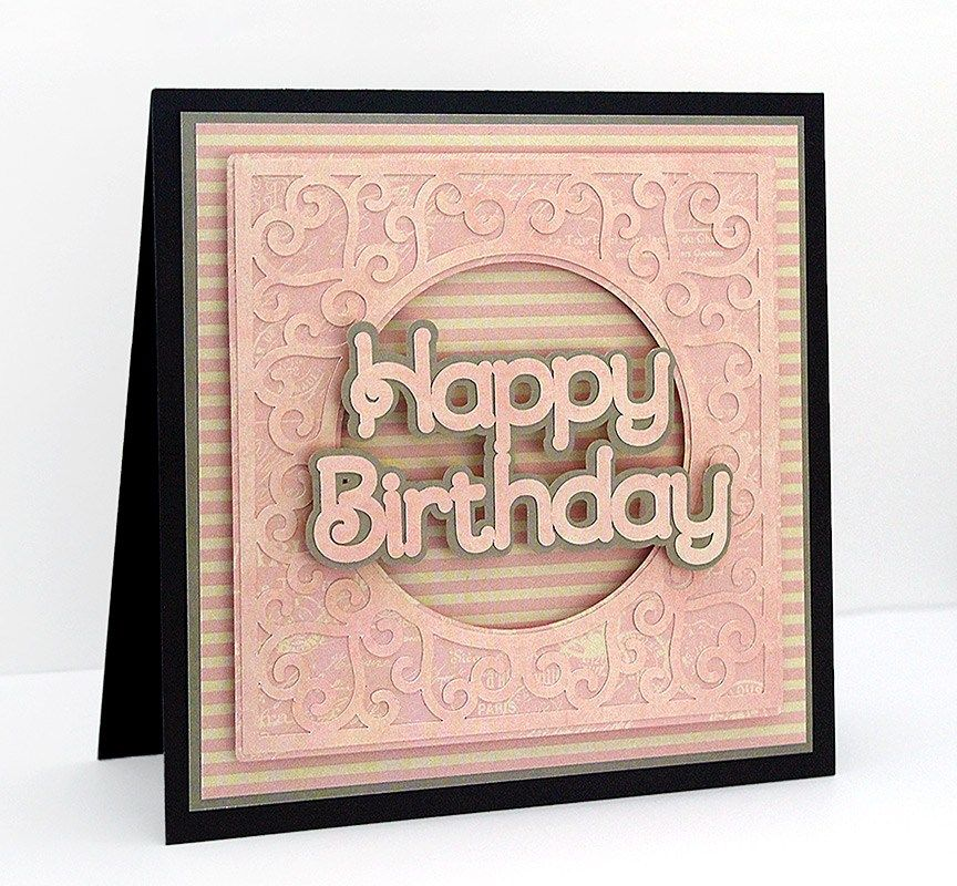Download Swirly Frame 11 | Birthday card printable, Card making ...