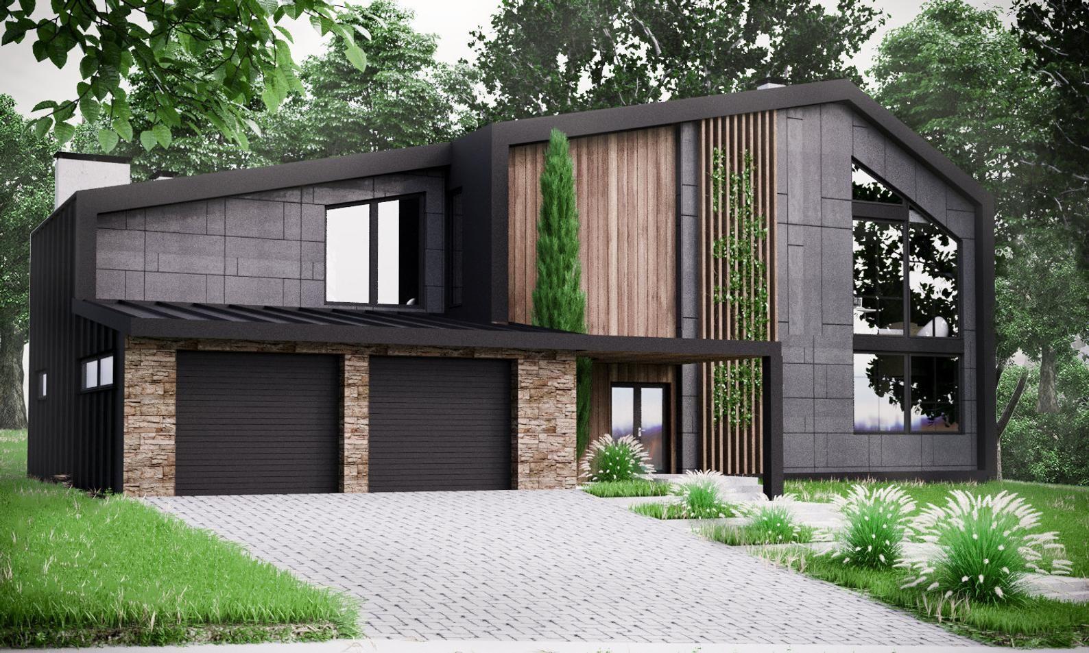 Modern House Plan Building Plans Blueprints & Material List 2018 306 m #2