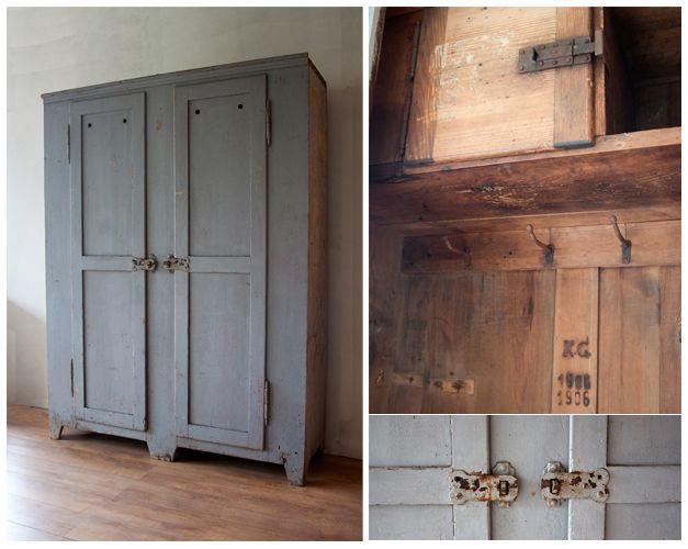 Houten kasten verven pure original frans grenen houten vloeren plankenland - Houten keuken en metaal ...