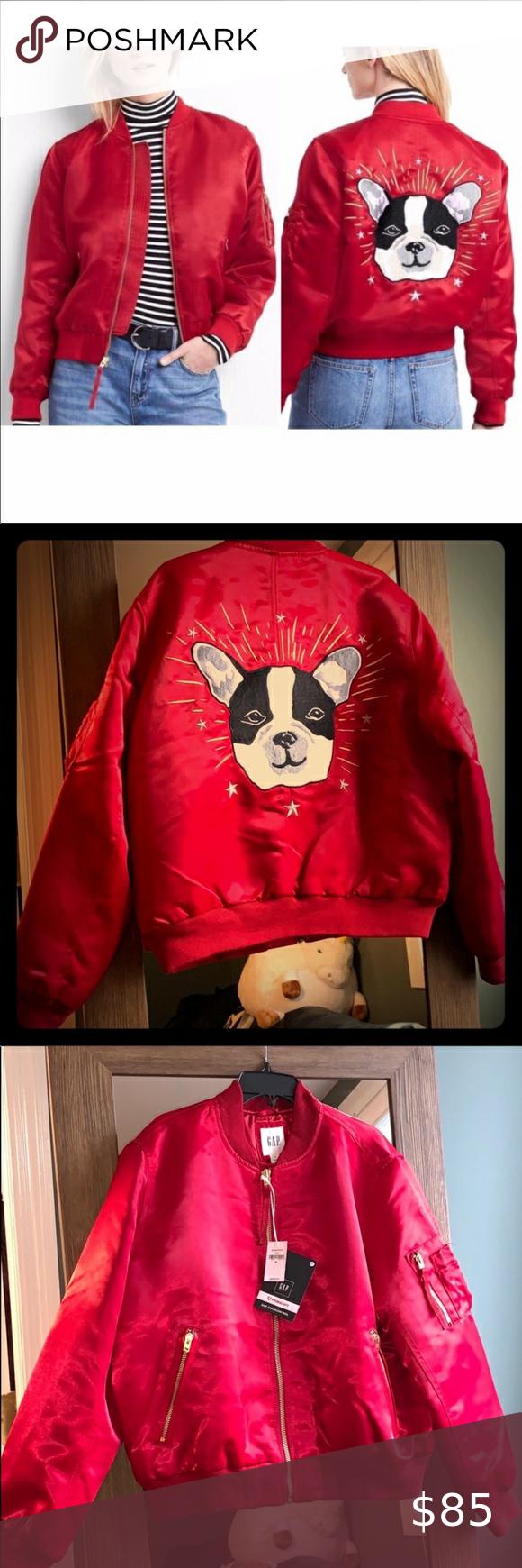 Gap French Bulldog Dog Red Satin Bomber Jacket Nwt Gap French Bulldog Dog Red Satin Bomber Jacket Nwt New Wi Satin Bomber Jacket Clothes Design Fashion Design [ 1740 x 580 Pixel ]