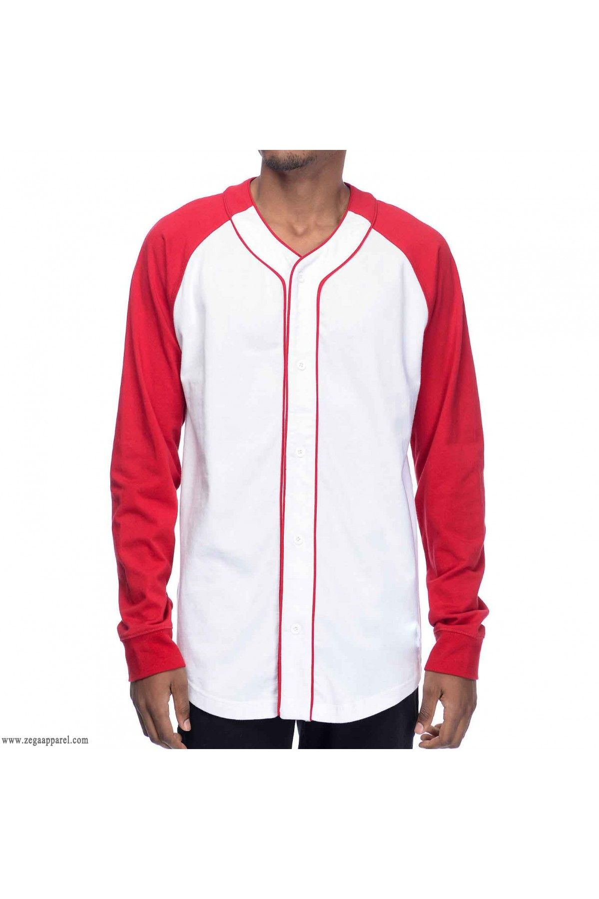 4bb337d1 The Custom Made Zega Apparel Cut and Sew Long Sleeve Baseball Jerseys are  made to order from the start, customers can have any sort of customization  in any ...