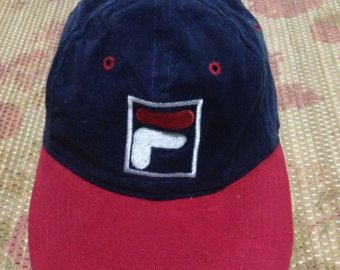 vtg Fila cap casual adjustable hats by JunkMyHearts on Etsy