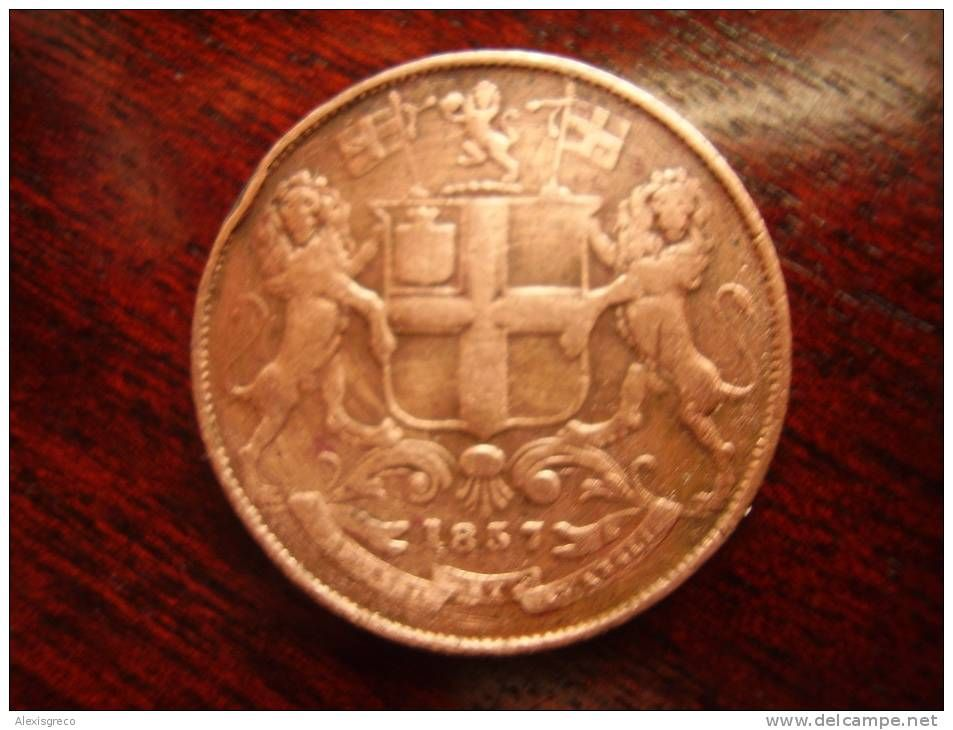 EAST INDIA COMPANY (BRITISH) 1857 QUARTER ANNA COPPER COIN USED