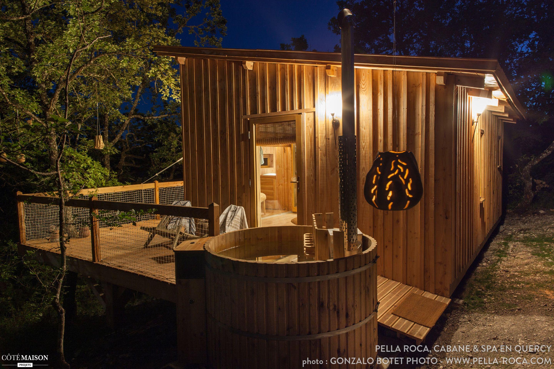 Cabanes perchées avec Spa et Sauna privatifs au cœur du Quercy un