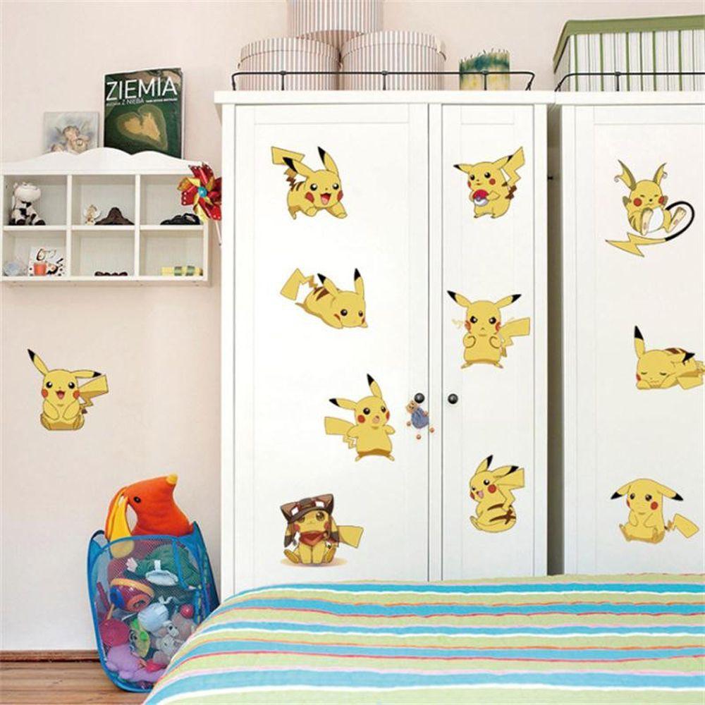 Wall stickers Pokemon Pikachu Decor Removable Nursery Kids Baby