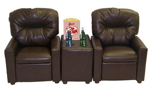 Dozydotes 2 Seat Theater Seating Recliner - Kids Upholstered Chairs at Hayneedle