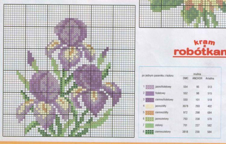 Gallery.ru / Фото #41 - разные цветочные схемы - irisha-ira