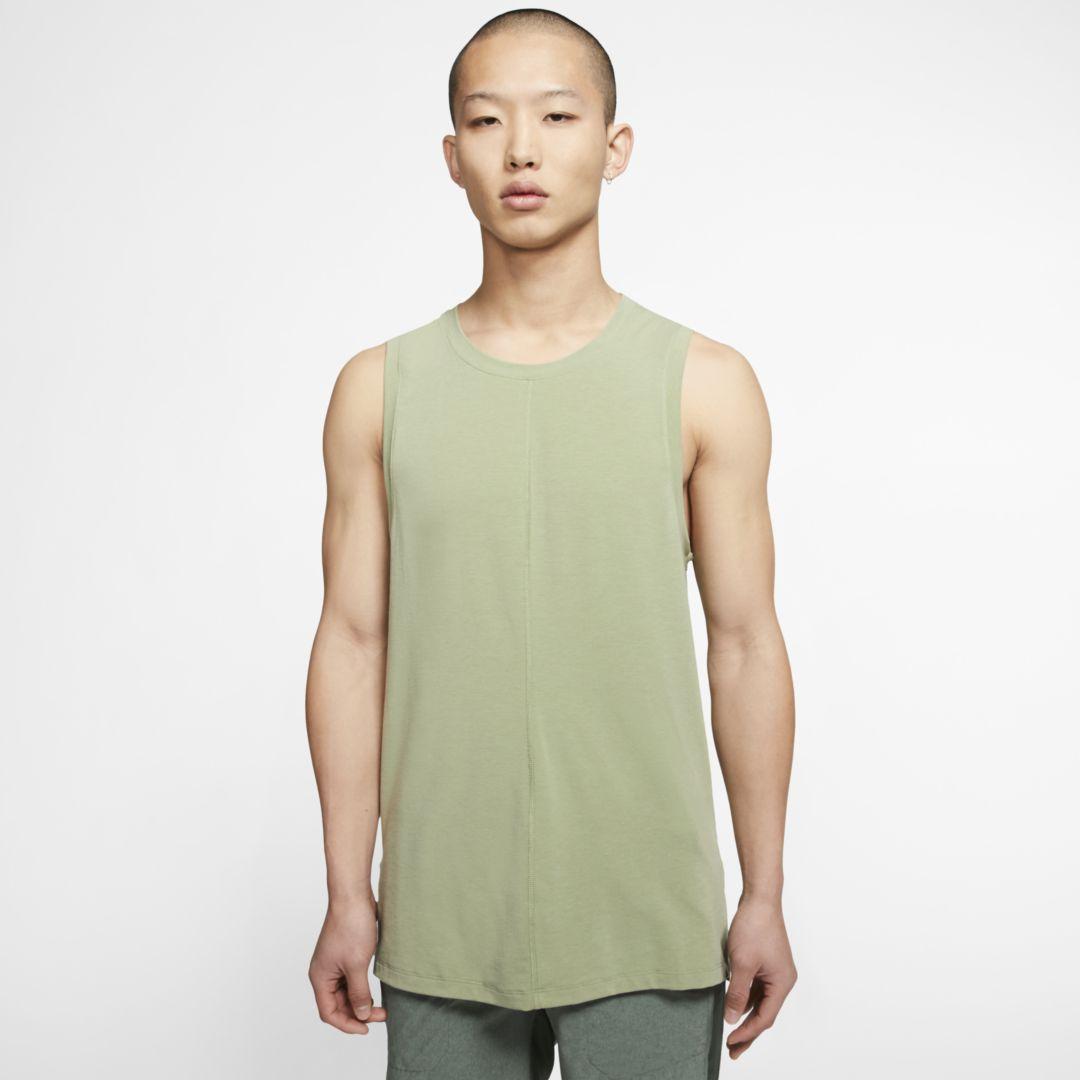 Photo of Nike Yoga Men's Tank (Oil Green)