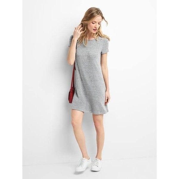 Gap Women Softspun Short Sleeve T Shirt Dress ($60) ❤ liked on ...
