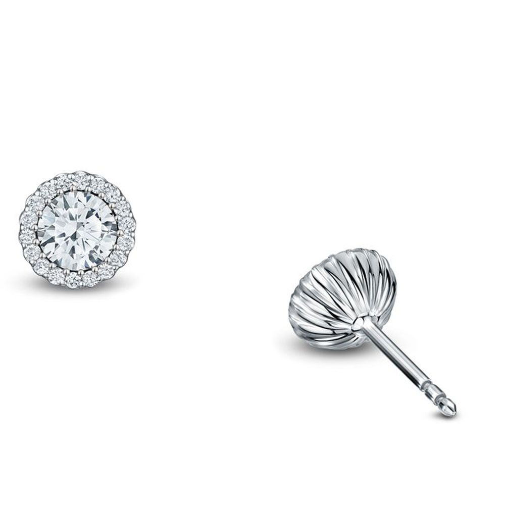 For the Bride - Andrew Geoghegan 18ct White Gold 0.36ct G VS Cannele Earrings