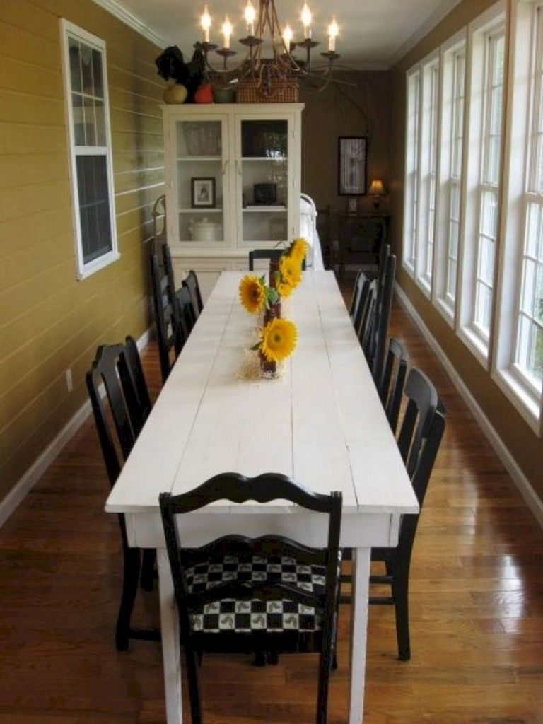 43+ Amazing Farmhouse Sunroom Makeover Ideas Narrow