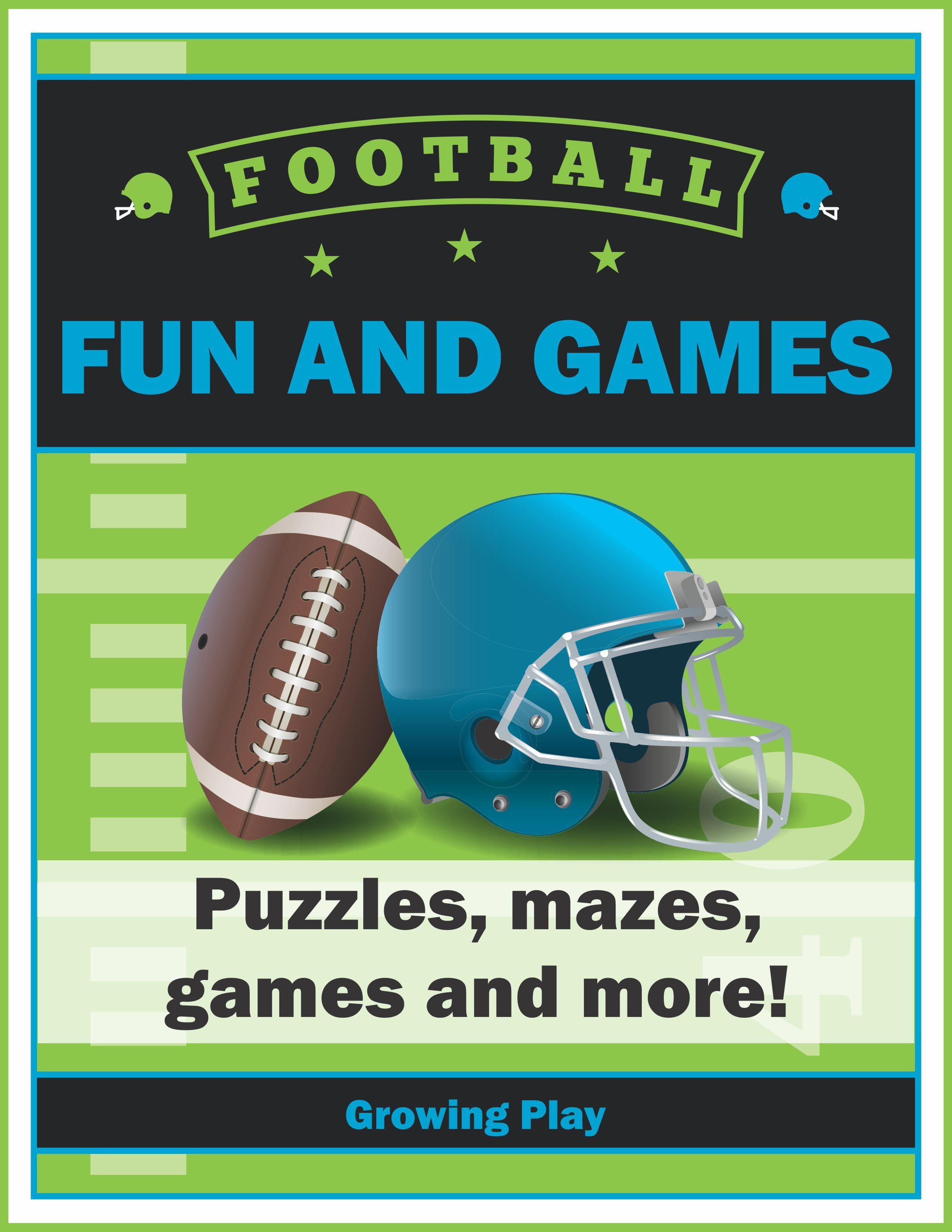 Football Fun and Games Football games to play, Football