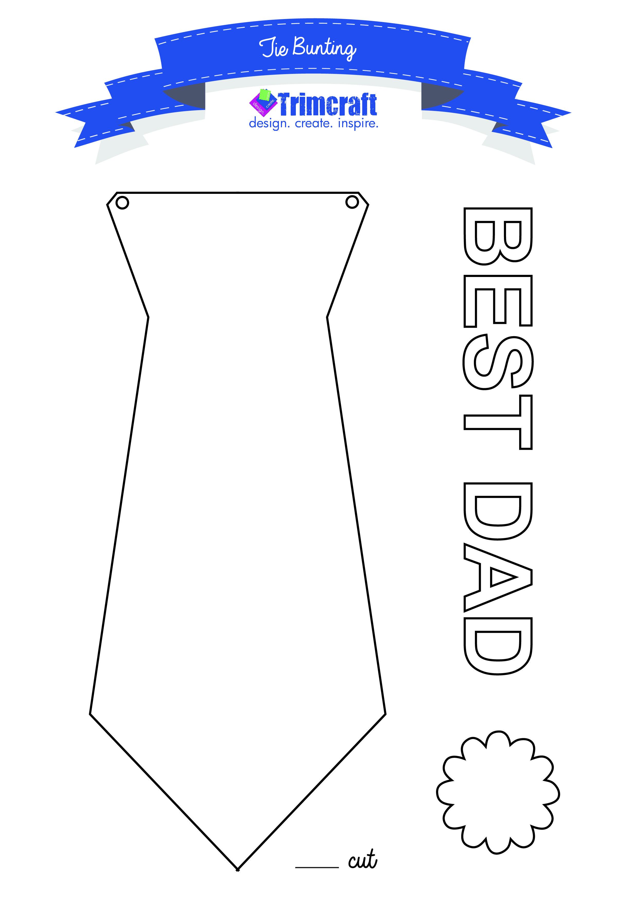 Create fab fathers day tie bunting with our free craft ...