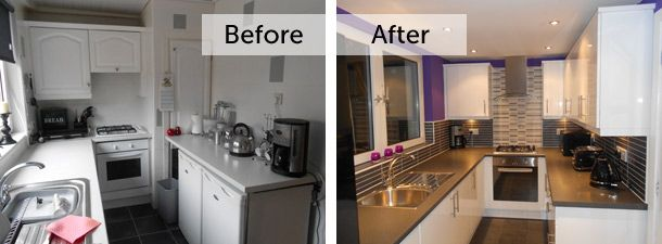 Ideas for making a small kitchen appear bigger from www for Small fitted kitchens