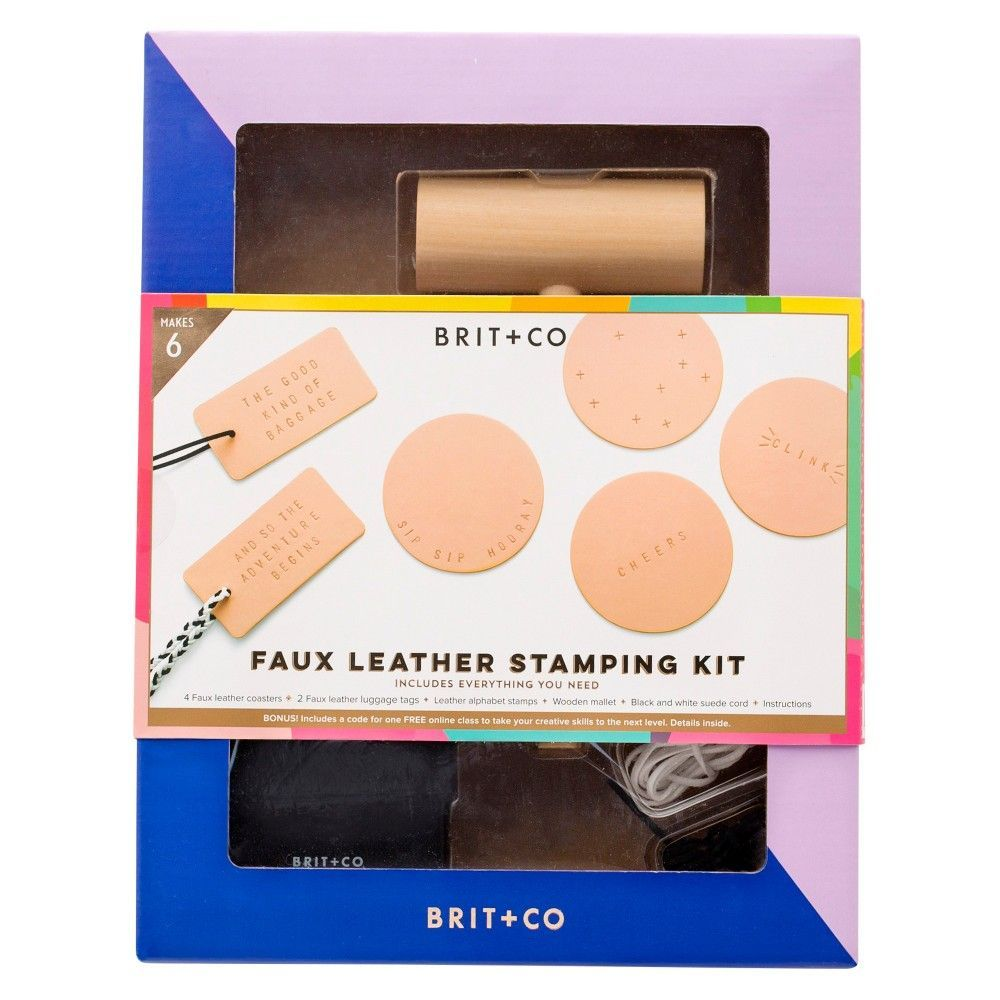 Brit co faux leather stamping kit makes 6 craft kits