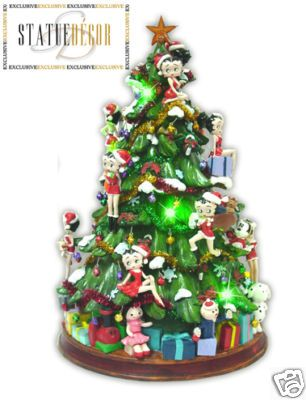 Christmas Tree Wall Decor Betty Boop Christmas Tree With Gifts