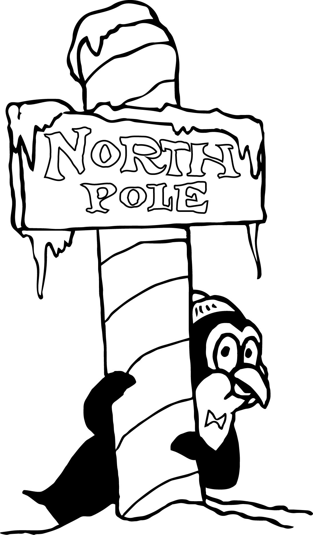 cool north pole coloring pages