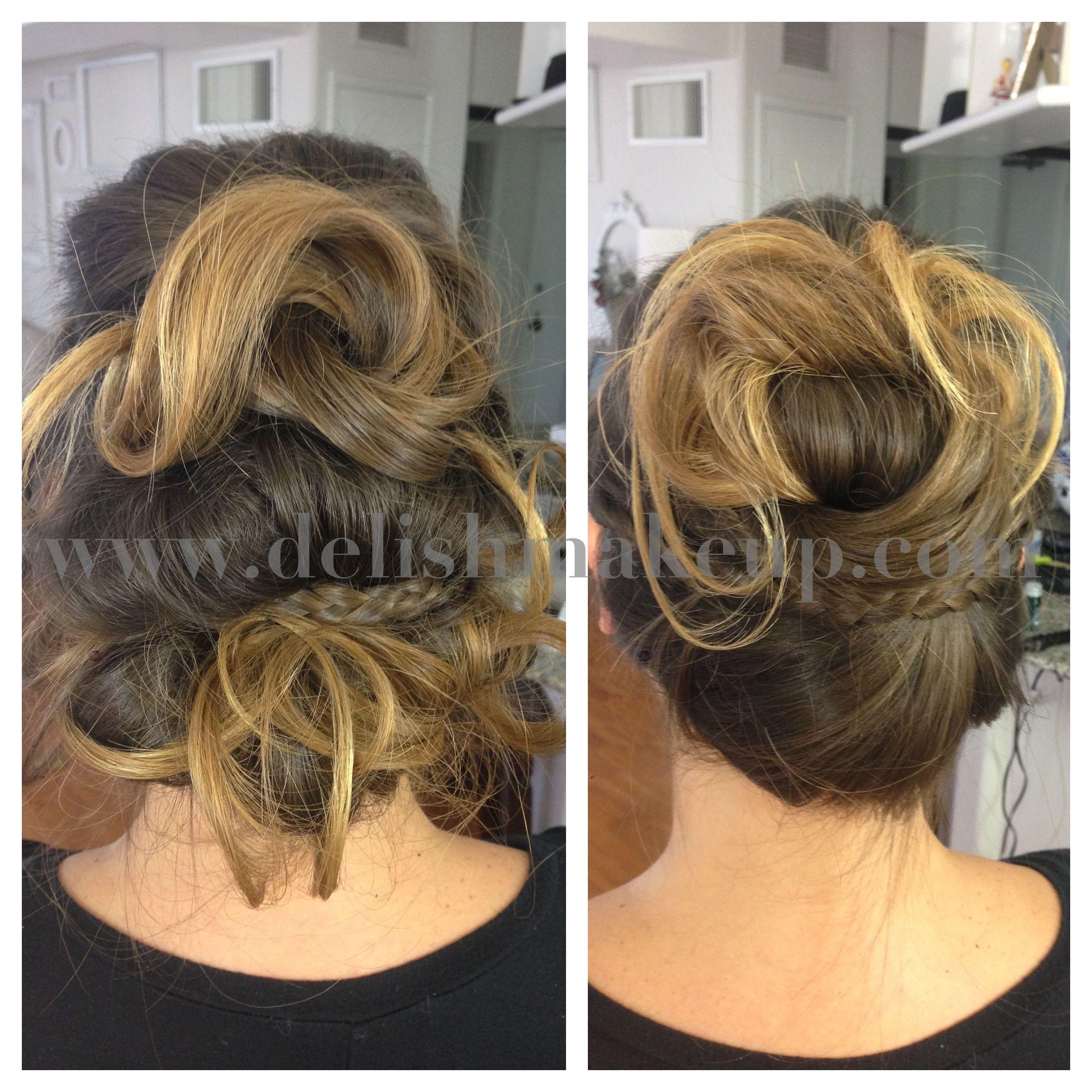 Messy updos Hawaii makeup and hair artist Artistic hair