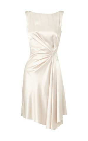 Karen Millen draped satin dress