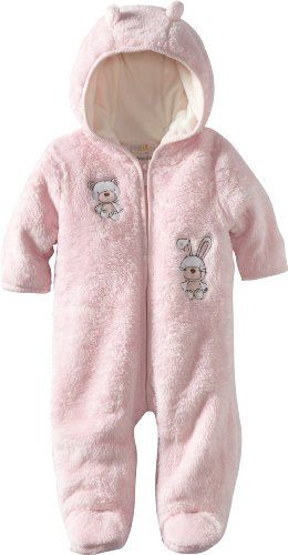 b7149786cafa ABSORBA Baby-Girls Newborn Fuzzy Footie