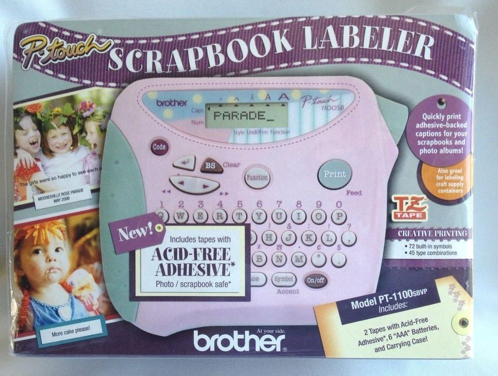 Brother P Touch Scrapbook Labeler Pt 1100sbvp Bujo Bullet Journal