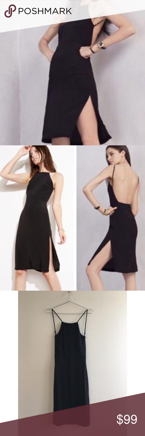 Reformation Eve Crepe Dress Black Classic Little Black Dress From Reformation Features Square Neckline Side Slits On Both S Crepe Dress Black Dress Dresses [ 1740 x 580 Pixel ]