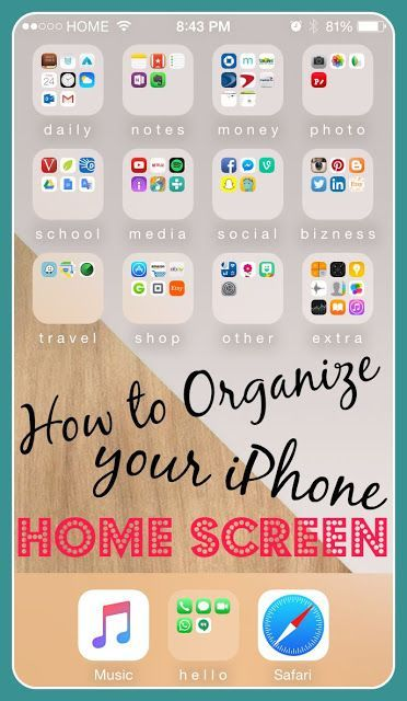 How to Organize Your iPhone Home Screen⎹ Julie SanCHIC