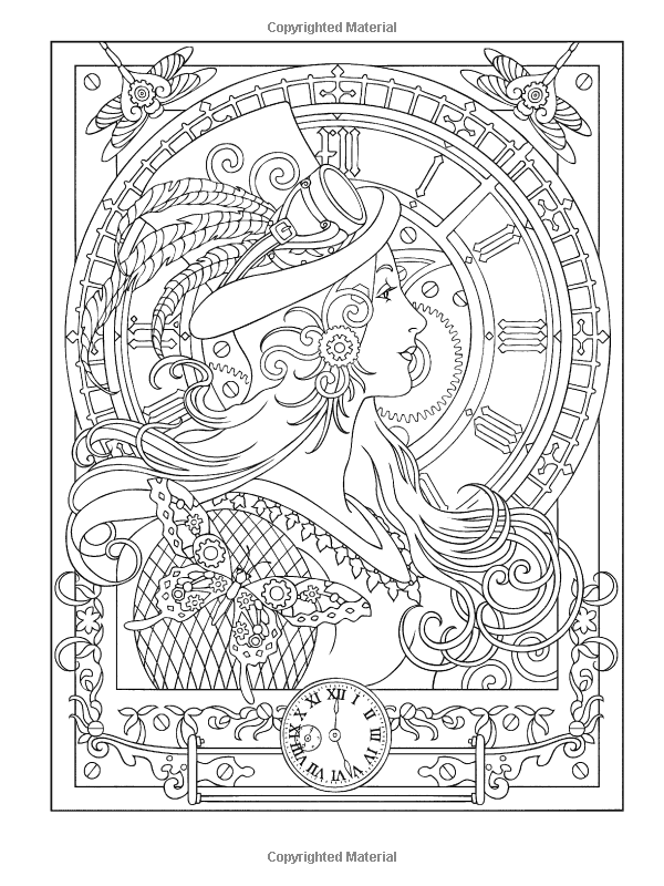 Amazoncom Creative Haven Steampunk Designs Coloring Book