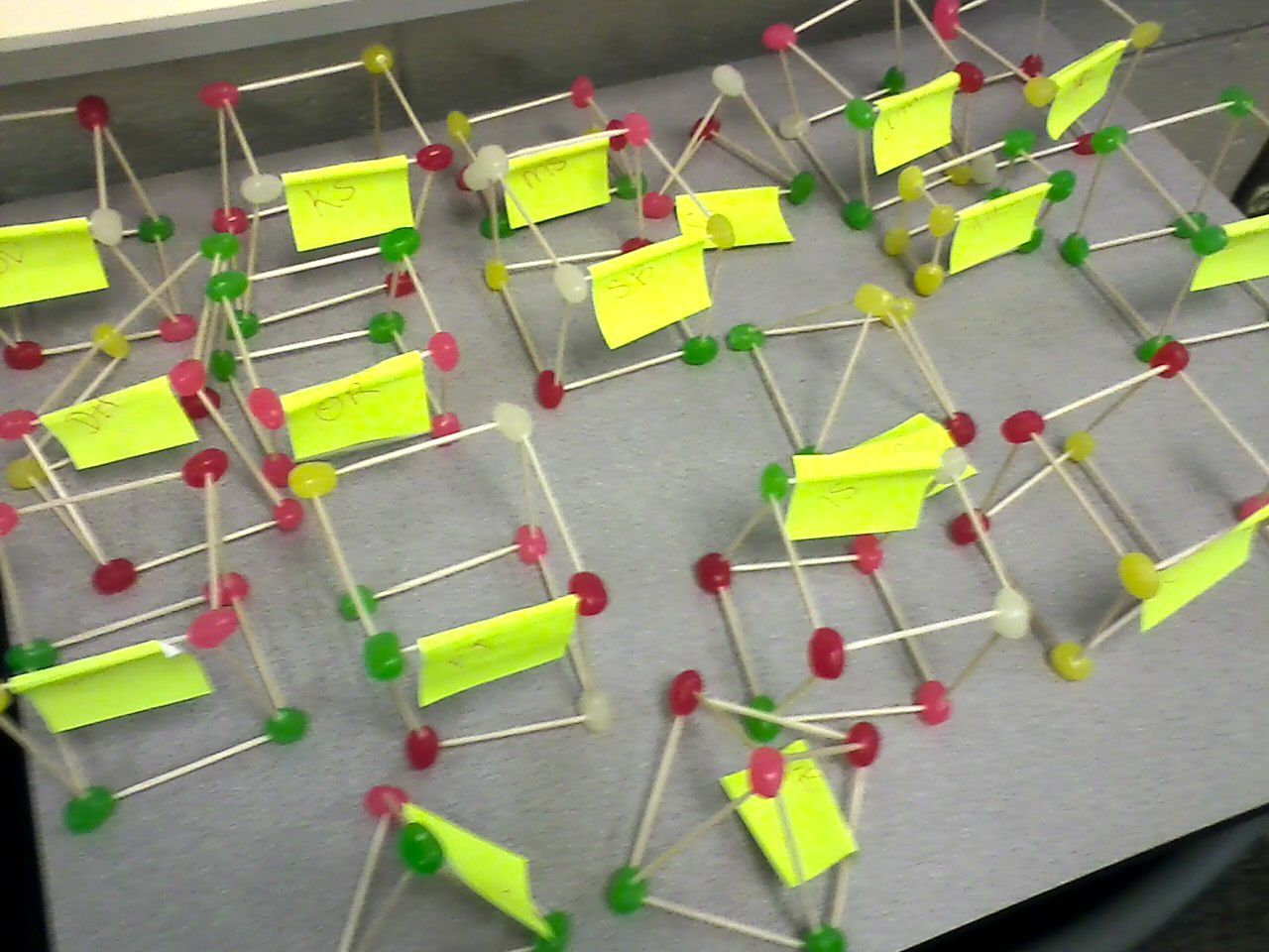 Geometric Solids Models Out Of Jellybeans And Toothpicks