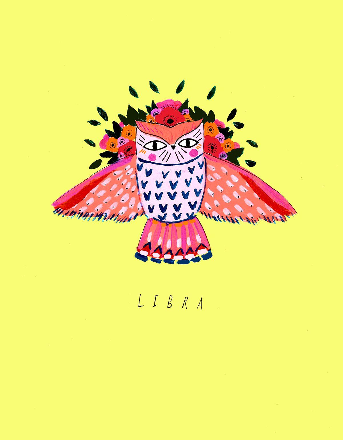 katy-smail-horoscope-illustrations-Libra in 2019 | Libra Star Sign